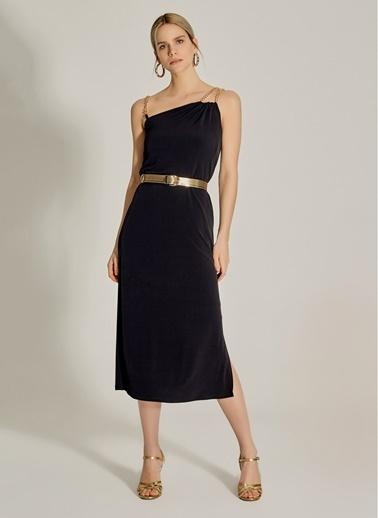 NGSTYLE Zincir Askılı Elbise Siyah